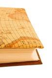 Livro com mapa Imagens de Stock Royalty Free