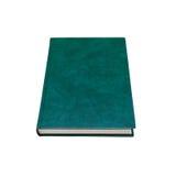 Livro com obscuridade - tampa de couro verde isolada no branco Imagens de Stock Royalty Free