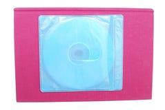 Livro contra o CD Fotografia de Stock