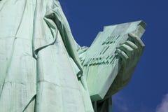 Livro da estátua de liberdade Foto de Stock