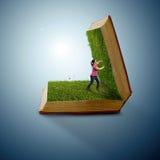 Livro da grama Imagens de Stock