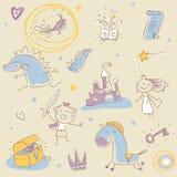 Livro da história das crianças Fotos de Stock Royalty Free