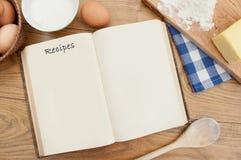 Livro da receita Imagens de Stock Royalty Free