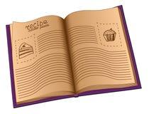 Livro da receita Imagens de Stock