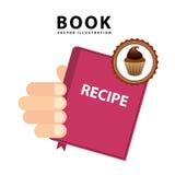 Livro da receita do queque Imagens de Stock