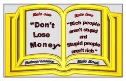 Livro da regra dos empresários ilustração royalty free