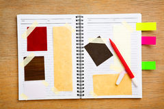 Livro da sucata do desenhador Foto de Stock Royalty Free
