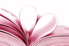 Livro dado forma coração Fotos de Stock