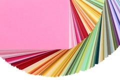 Livro das amostras de folha da cor Foto de Stock Royalty Free