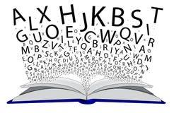 Livro das letras Imagens de Stock