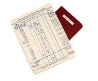 Livro de banco Imagem de Stock Royalty Free