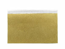 Livro de Brown no fundo branco Fotografia de Stock
