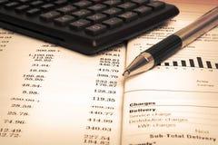 Livro de cheques de equilíbrio Imagem de Stock Royalty Free