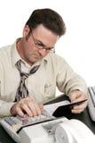 Livro de cheques de equilíbrio com Calcu Imagens de Stock Royalty Free