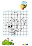 Livro de coloração 2 - abelha Foto de Stock