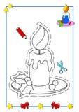 Livro de coloração do Natal 3 Fotografia de Stock Royalty Free