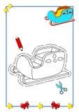 Livro de coloração do Natal 7 Fotografia de Stock Royalty Free