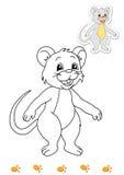 Livro de coloração dos animais 11 - rato ilustração stock
