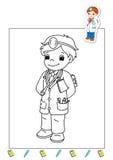 Livro de coloração dos trabalhos 23 - doutor Fotografia de Stock