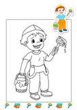 Livro de coloração dos trabalhos 3 - descorantes Fotografia de Stock Royalty Free