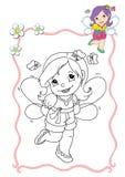 Livro de coloração - fairy 10 Foto de Stock