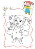 Livro de coloração - fairy 8 ilustração stock