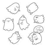 Livro de coloração ghosts ilustração do vetor