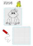 Livro de coloração - grelha 10 ilustração royalty free