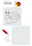 Livro de coloração - grelha 7 Foto de Stock Royalty Free
