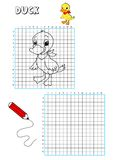 Livro de coloração - grelha 8 Fotografia de Stock