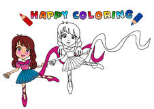 Livro de coloração isolado Foto de Stock Royalty Free