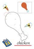 Livro de coloração para as crianças 3 ilustração stock