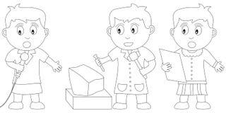 Livro de coloração para miúdos ilustração do vetor