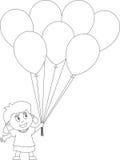 Livro de coloração para os miúdos [25] ilustração stock