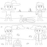 Livro de coloração para os miúdos [29] Fotografia de Stock Royalty Free