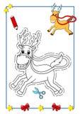 Livro de coloração do Natal 6 Fotografia de Stock Royalty Free