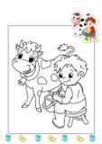 Livro de coloração dos trabalhos 12 - agricultor Imagens de Stock Royalty Free