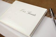 Livro de convidado fotografia de stock royalty free