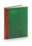 Livro de couro da capa dura - trajeto de grampeamento Fotografia de Stock Royalty Free