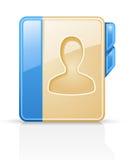 Livro de endereço Imagem de Stock