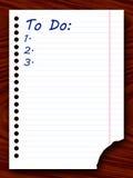 Livro de exercício com uma lista de casos ilustração royalty free