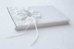 Livro de hóspedes do casamento Imagem de Stock Royalty Free