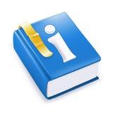 Livro de instrução, ícone do vetor Fotografia de Stock Royalty Free