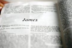 Livro de James fotos de stock royalty free