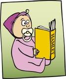 Livro de leitura da criança pequena Fotografia de Stock Royalty Free