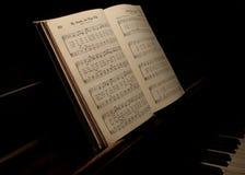 Livro de música Fotos de Stock Royalty Free