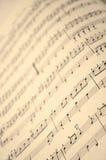 Livro de música no fim acima foto de stock royalty free