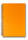 Livro de nota alaranjado Imagens de Stock