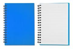 Livro de nota azul Imagem de Stock Royalty Free