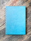 Livro de nota azul Fotografia de Stock